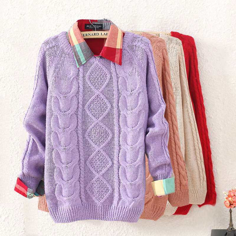 Retro rhombic sweater