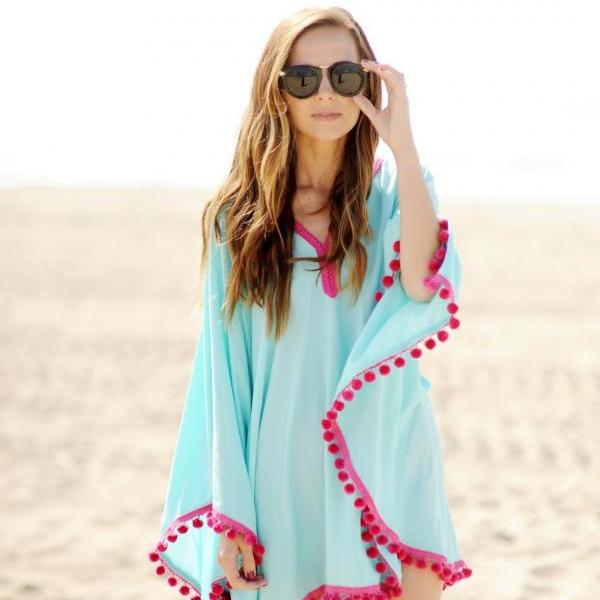 Seaside holiday beach chiffon shirt